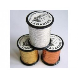 Lagartun Embossed Varnish Tinsel. Spool of 8 YDS.