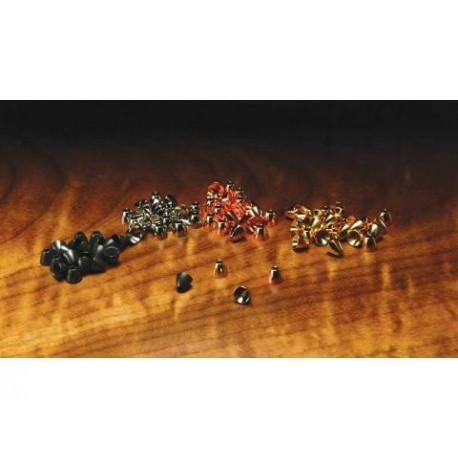 Tête en Cone - Tungstène - Sac de 10 - Choix de 4 Grosseurs et de 4 couleurs.