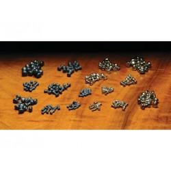 Yeux de Plomb - Naturel ou Plaqué Argent - Sac de 6 paire. Choix de 8 grosseurs.