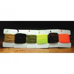 Rayonne Chenille - Sac de 1 vgs. - Choix de 4 grosseurs et de 19 couleurs.