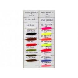 Rayonne Chenille Fluorescente - Sac de 1 vge. - Choix de 4 grosseurs et de 8 couleurs.