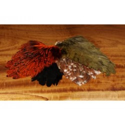 Speckled Hen Saddle - Natural or Dyed.