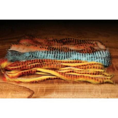 Hareline - Badelette de lapin - Tiger Barred - Magnum.
