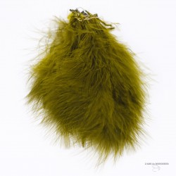 "Marabou Select - Blood Quill - 6"" a 7"" de long - Sac de 12 plumes."