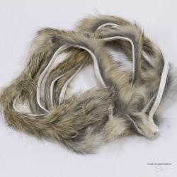 """Hareline - Bandelette de lapin régulière - 1 mètre - Largeur 1/8"""""""
