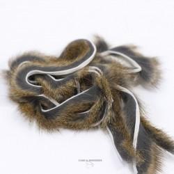 """Hareline - Bandelette de lapin - Coupe Transversale - 1 mètre - Largeur 1/8"""""""