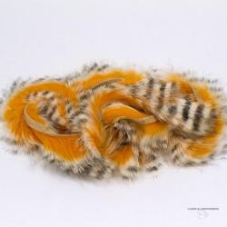 """Hareline - Bandelette de lapin - Barred Tiger - Largeur 1/8"""""""